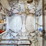 Bathroom Tile Remodeling Marble Bookmatching Palm Beach 5